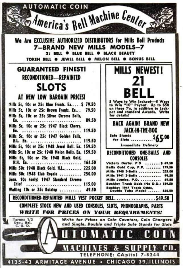 Mills apparaten in advertentie