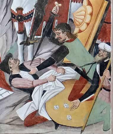 detail van de kruisiging door Canavesio