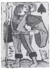 een van de oudste speelkaarten