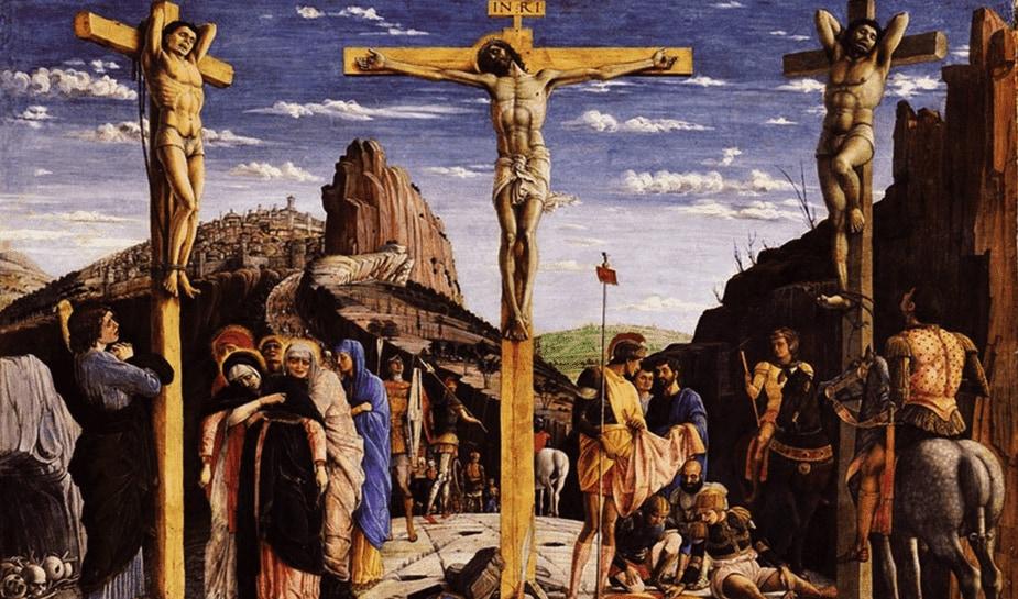kruisiging gokkende soldaten