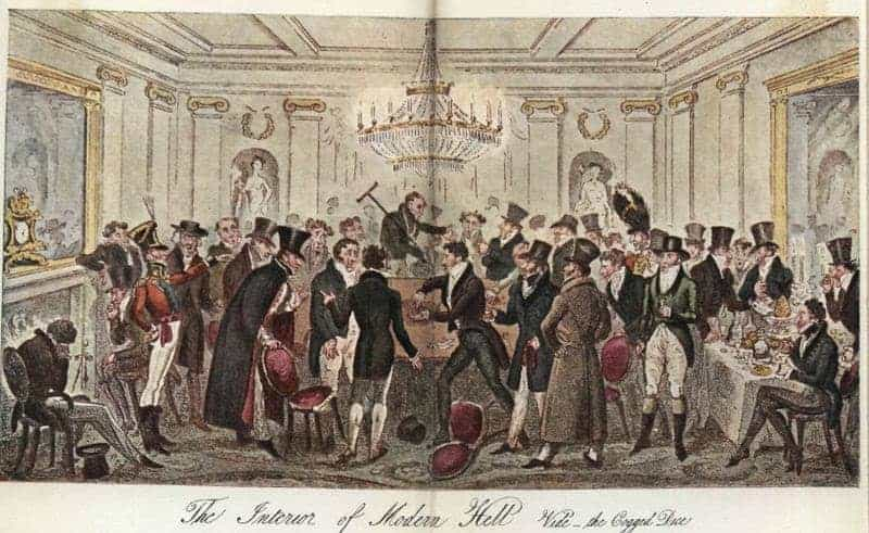 Interieur van een van de Londense gokhuizen