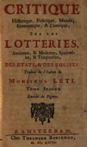 het woord loterij