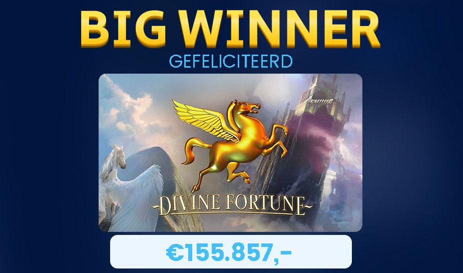 Deze week een Big Win op de gokkast Divine Fortune Jackpot