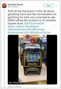 M&M zet aan tot gokken