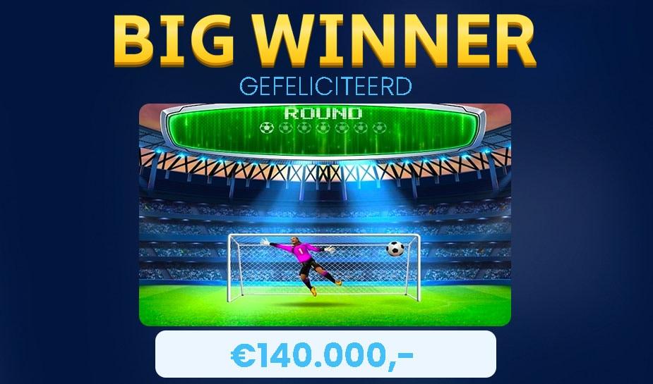 big winner 140.000 euro winst