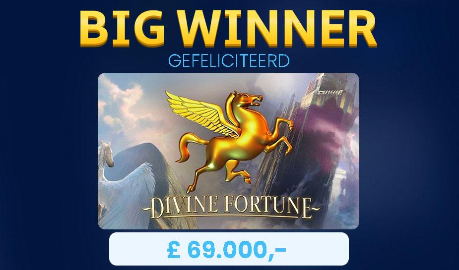 divine fortune slot big winner