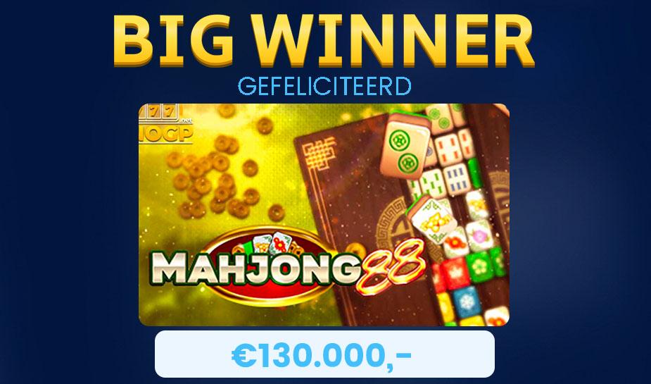 Deze week een Big Win op de gokkast : Mahjong 88