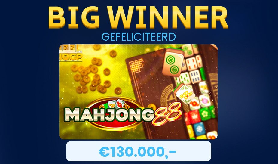big winner 130.000 euro mahjong 88 slot