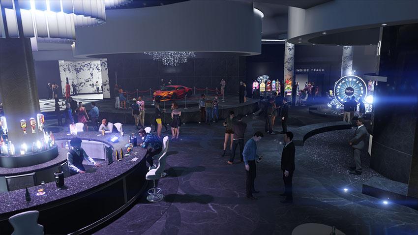 Zaal in het Diamond Casino en Resort