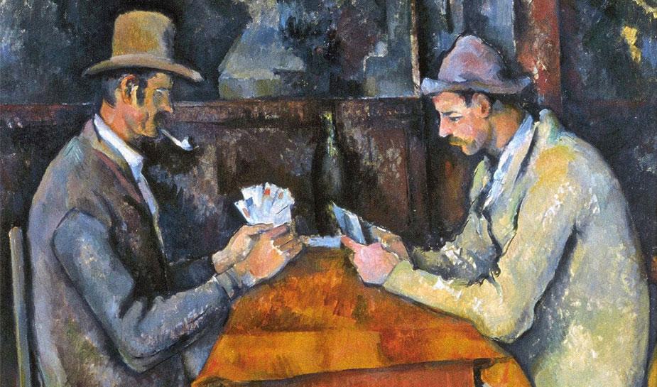 kaartspelers schilderij