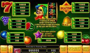 Burning Joker Noble Gaming Casino slot