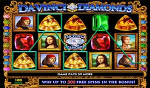 Da Vinci Diamonds High 5 videoslot