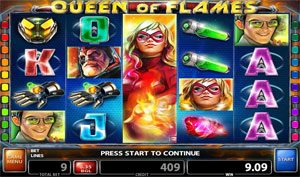 Queen of Flames Online Casino Game Casino Technology