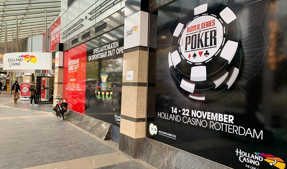 World Series of Poker 14-22 november 2019 buitenkant van Holland Casino Rotterdam