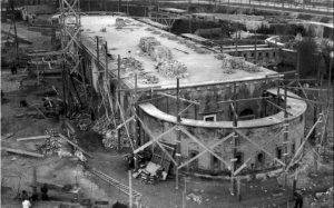 Verlaten Casino op Lido (bouw 1937)