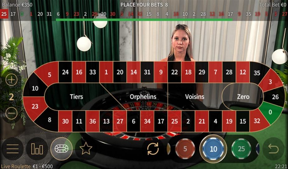Netent live interface live roulette