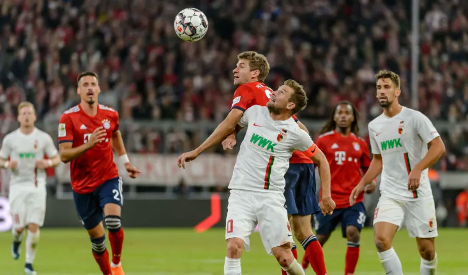 voetbalclub bayern munchen verslaat augsburg waardoor een fransman 400.000 euro winst door een weddenschap