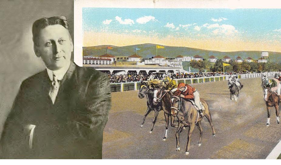 harry brolaski bij racebaan paardenracen voor gokken