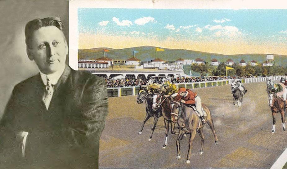 harry brolaski bij paardenracebaan weddenschappen