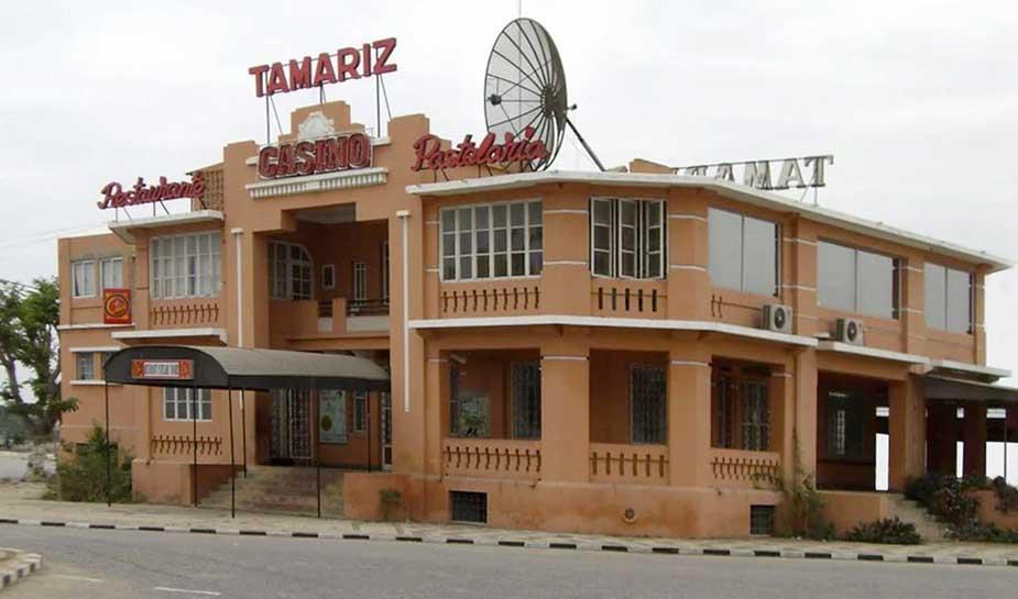 voorkant gebouw oude tamariz casino
