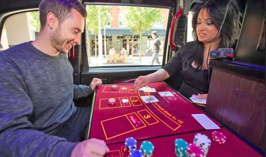 Casino in taxi