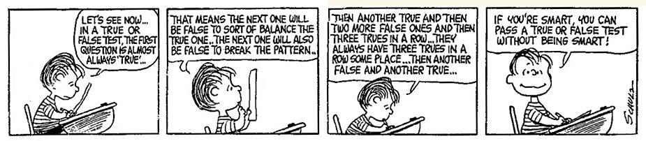 peanuts - true or false (willekeurigheid)