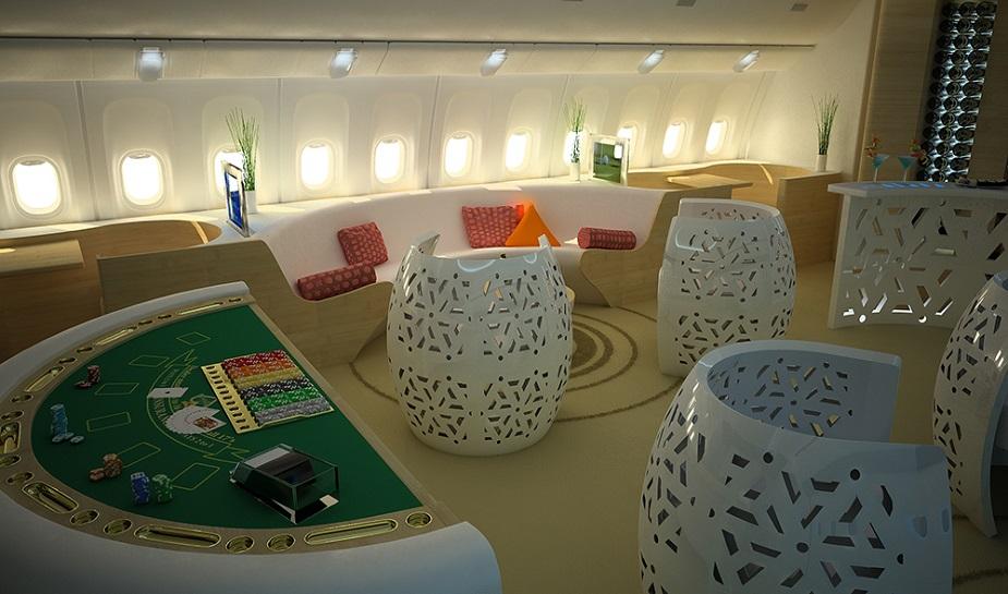 Casino in een Boeing - opmerkelijk casino