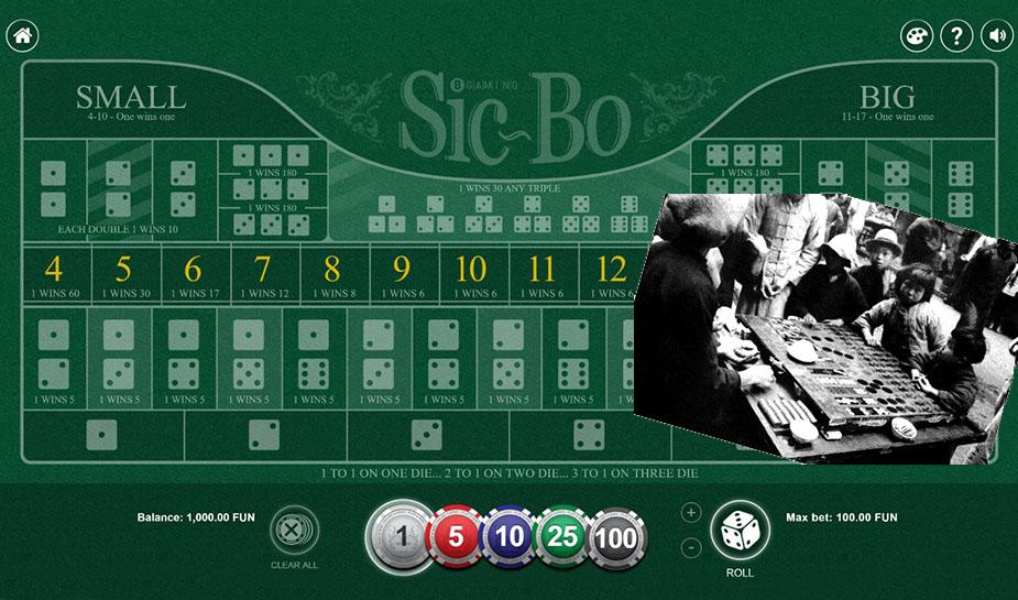 het woord Sic Bo