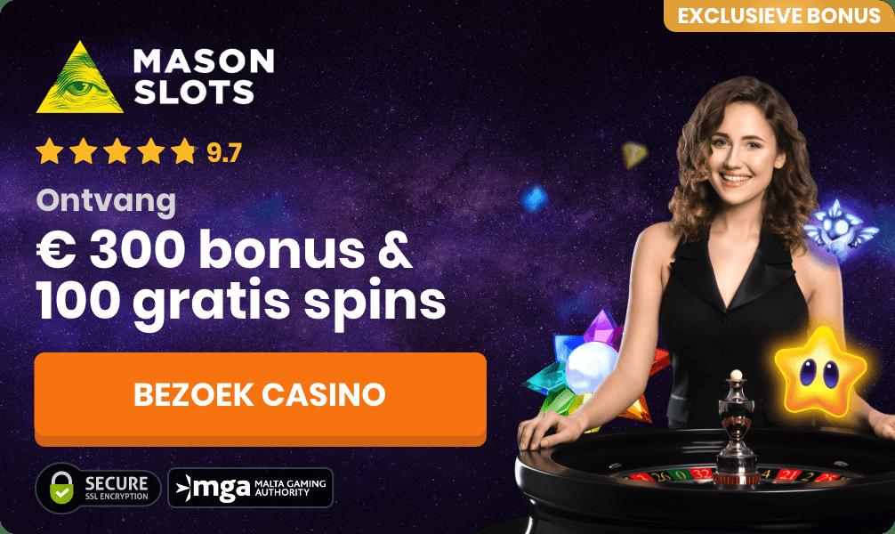 mason slots roulette casino bonus banner