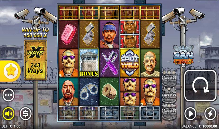 San Quentin xWays slot Nolimit City
