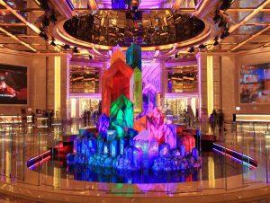Kunst in casino's - wishing crystals