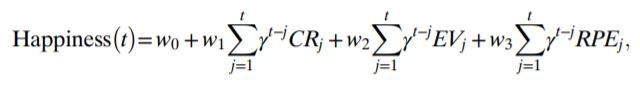 Voorspellende formule voor geluksgevoel