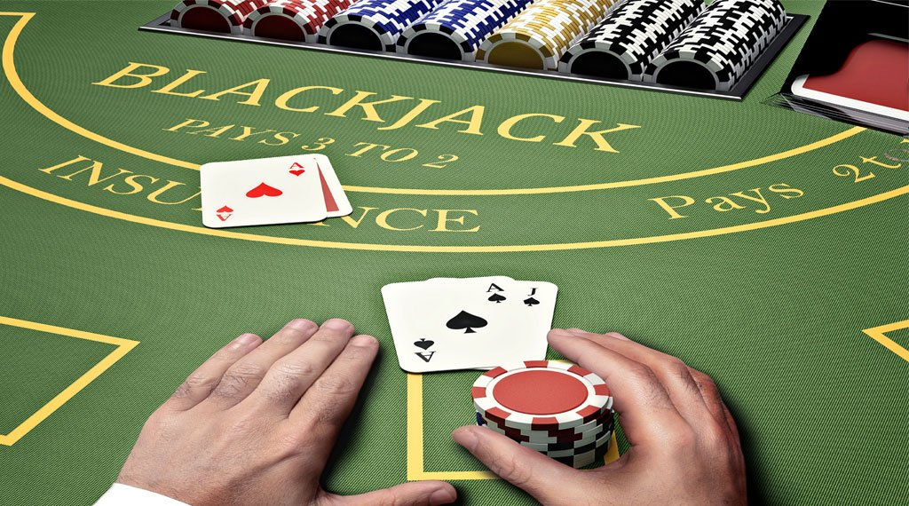 Blackjack spelen aan de hand van tabel