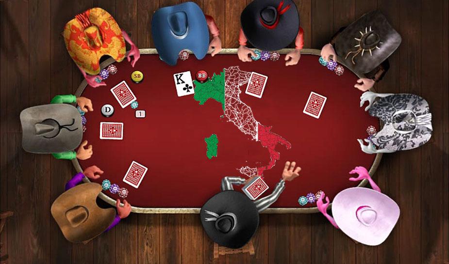 Poker spelen in Italië